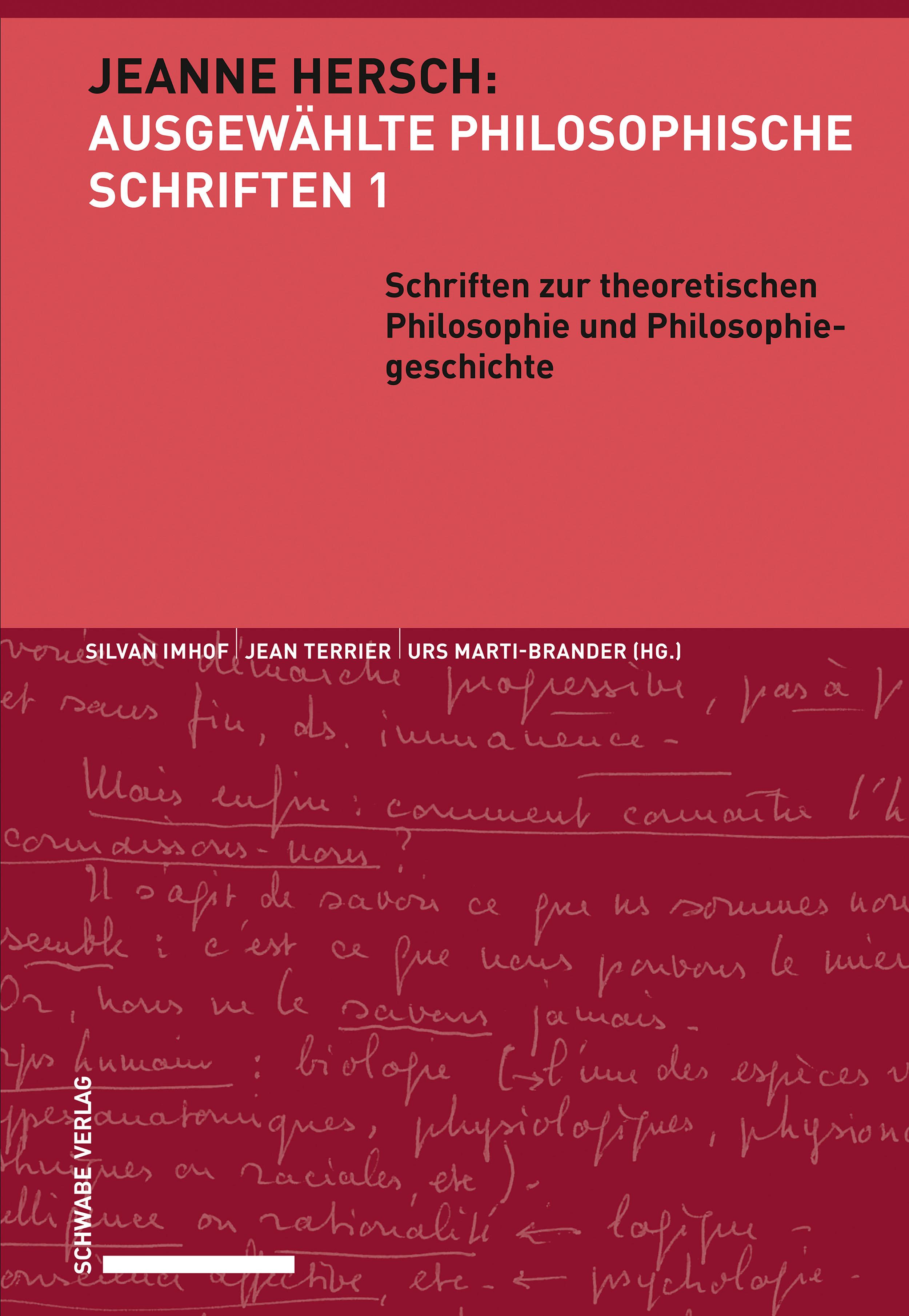 Jeanne Hersch: Ausgewählte philosophische Schriften