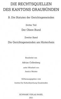 Die Rechtsquellen der Gerichtsgemeinden am Hinterrhein