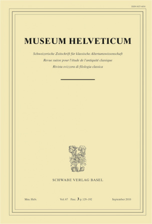 Museum Helveticum - Vol. 67 Fasc. 3