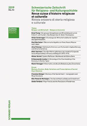 Schweizerische Zeitschrift für Religions- und Kulturgeschichte