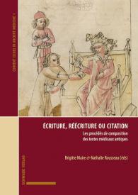 Écriture, réécriture ou citation