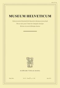 Museum Helveticum - Vol. 72 Fasc. 1